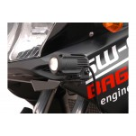 Support pour feux additionnels HAWK Noir Suzuki DL1000 01-07 / 650 04-10 / Kawasaki KLV 1000 04-06
