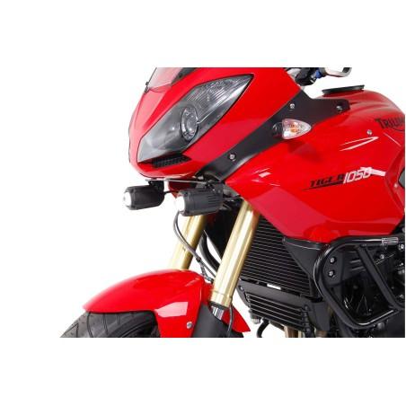 Support pour feux additionnels HAWK Noir Triumph Tiger 1050i 2006 et +