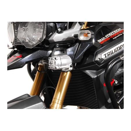 Support pour feux additionnels HAWK Noir Triumph Tiger 1200 Explorer 2012 et +