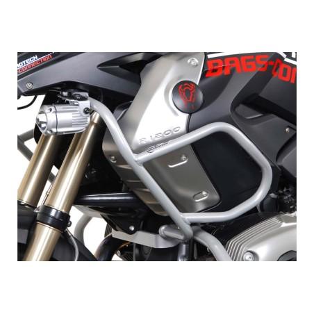 Barre de protection supérieure Gris BMW R 1200 GS 2008 et + Pour Crashbars