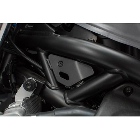 Caches pour cadre 2 pcs. Noir. Suzuki SV650 ABS (15-).