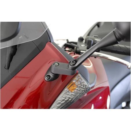 Extension de rétroviseur Noir SW-MOTECH pour Honda CBF1000 2006-2009, CBR1000RR 2004-2007, XL125V Varadero 2001-2008, CB1300S 20