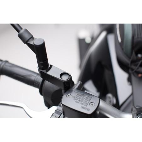 Extensions de rétroviseur Universelles Noir SW-MOTECH Droite + Gauche pour Yamaha, Ducati, Honda, DSR