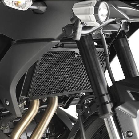 Grille de radiateur spécifique PR4114 GIVI en acier inox peinte en noire pour Kawasaki 650 Versys 2015-2017