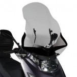 Bulle pare-brise GIVI incolore +37cm pour scooter Kymco Dink 50-125-200i - 2006-2016