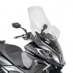 Bulle pare-brise GIVI incolore +31,5 cm pour scooter Kymco Downtown ABS 125i / Downtown ABS 350i - 2015-2016
