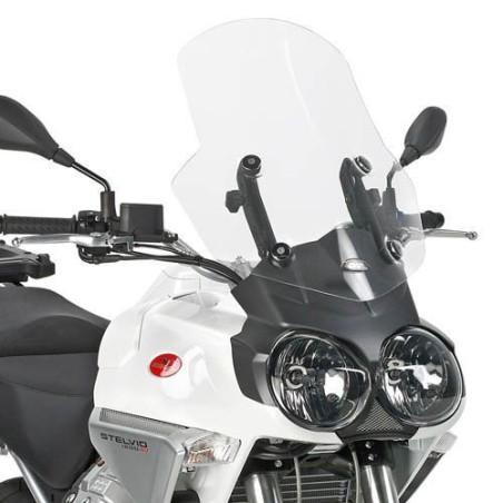 Bulle pare-brise GIVI incolore +13 cm pour moto Guzzi Stelvio 1200 - 2008-2010