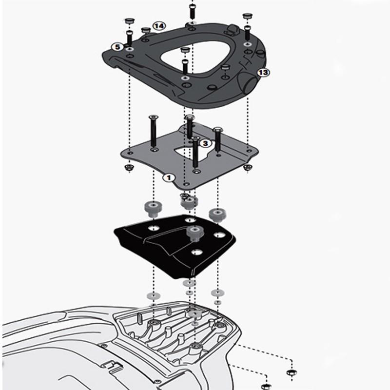 support spécifique sr5609m givi pour top case monolock pour de0886ac4f60