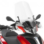 Bulle pare-brise GIVI incolore +35,5 cm pour scooter Piaggio MP3 Yourban 125 et MP3 Yourban 300 2011-2016