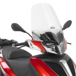 Bulle pare-brise GIVI incolore +25,5 cm pour scooter Piaggio MP3 Yourban 125 et MP3 Yourban 300 2011-2016