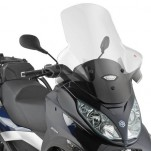 Bulle pare-brise GIVI incolore + 12 cm pour scooter Piaggio MP3 Touring 300-400 /  MP3 Business 300-500 / MP3 Sport 300-500