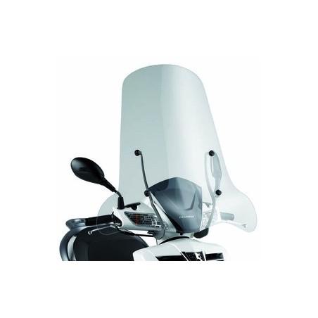 Bulle pare-brise GIVI incolore +8 cm pour scooter Peugeot LXR125 - LXR200 2009-2016 / SYM HD Evo 125 / 200 2007-2016