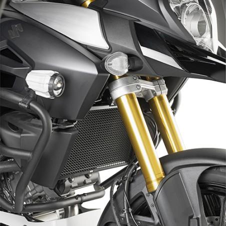 Grille de radiateur spécifique PR3105 GIVI en acier inox peinte en noire pour Suzuki DL1000 VStrom 2014-2016