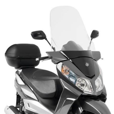 Bulle GIVI incolore +19 cm pour scooter SYM Citycom 300  2008-2016