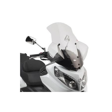 Bulle pare-brise GIVI incolore + 12 cm pour scooter Sym Maxsym 400 2011-2016