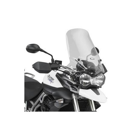 Bulle pare-brise GIVI incolore + 17 cm pour moto Triumph Tiger 800 / Tiger 800XC / Tiger 800XR 2011-2016