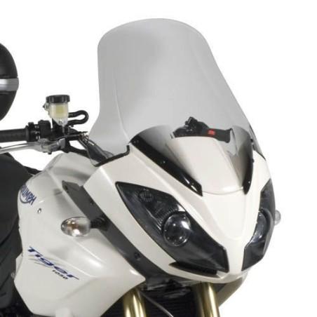 Bulle GIVI incolore +12,5 cm pour moto Triumph Tiger 1050 2007-2012 / Tiger 1050 Sport  2013-2016