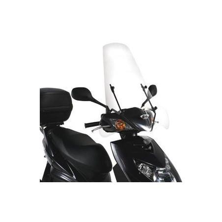 Bulle pare-brise GIVI incolore + 8 cm pour MBK Flame X125 2007-2012 / Yamaha Cignus X125 2007-2015