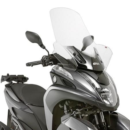 Bulle pare-brise GIVI incolore pour scooter MBK Tryptik 125 2014-2017 / Yamaha Tricity 125 2014-2016
