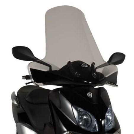 Bulle pare-brise GIVI incolore +22 cm pour scooter MBK Cityliner 125 2007-2012 / Yamaha XCity 125 / 250 2007-2016