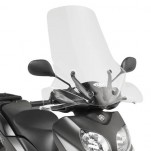 Bulle pare-brise GIVI incolore +14 cm pour scooter MBK Oceo 125 / Oceo 150 2012-2014 / Yamaha Xenter 125 /Xenter 150 2012-2016