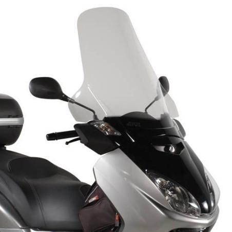 Bulle pare-brise GIVI incolore +25,5 cm pour scooter MBK Skycruiser 125 2005-2009 / Yamaha XMax 125-250 2005-2009