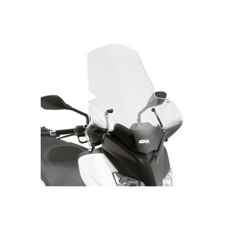 Bulle pare-brise GIVI incolore +30 cm pour MBK Skycruiser 125 2010-2012 / Yamaha XMax 125-250 2010-2013