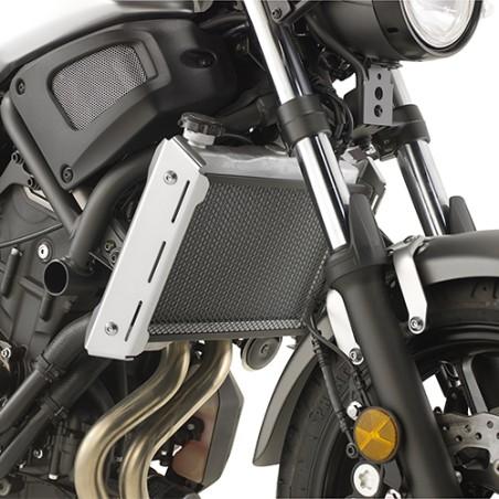 Grille de radiateur spécifique PR2126 GIVI en acier inox peinte en noire pour Yamaha XSR700 2016 et +, MT07 2018 et +