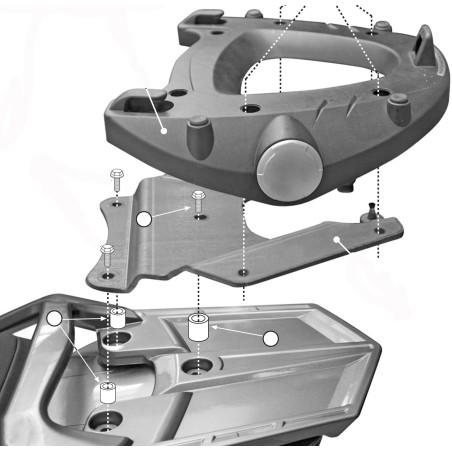 Kit de fixation E228 GIVI pour Top case MONOKEY pour Yamaha FJR1300 2006-2016