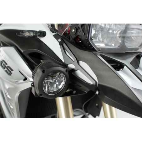 Support pour feux additionnels Noir SW-MOTECH pour BMW F800GS 2012 et +