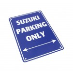 Plaque alu décorative Suzuki Parking Only pour garage