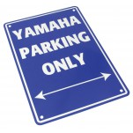 Plaque alu décorative Yamaha Parking Only pour garage