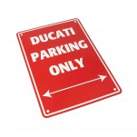 Plaque alu décorative Ducati Parking Only pour garage