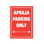Plaque alu décorative Aprilia Parking Only pour garage