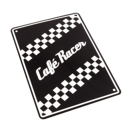 Plaque alu décorative Café Racer pour garage