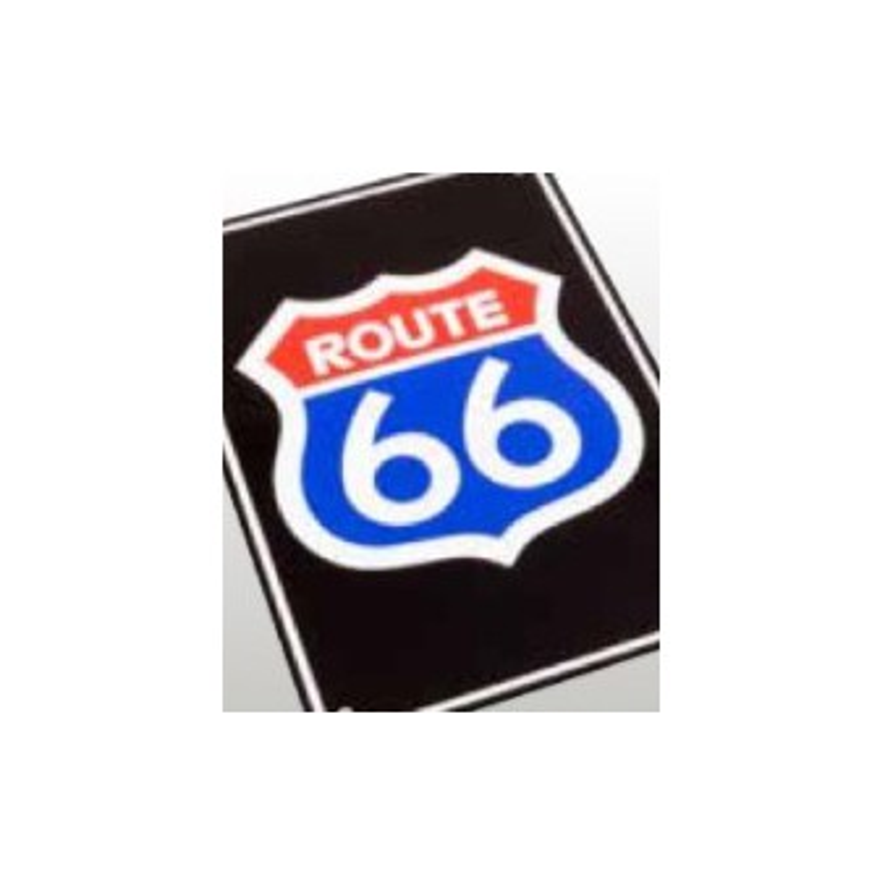 Plaque alu d corative route 66 pour garage tech2roo for Route 66 garage metz