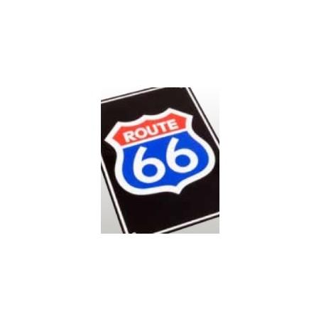 Plaque alu décorative Route 66 pour garage