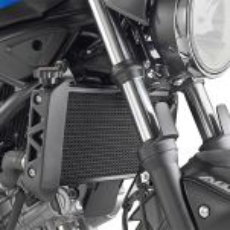 Grille de radiateur spécifique PR3111 GIVI en acier inox peinte en noire pour Suzuki SV650 2016-2017