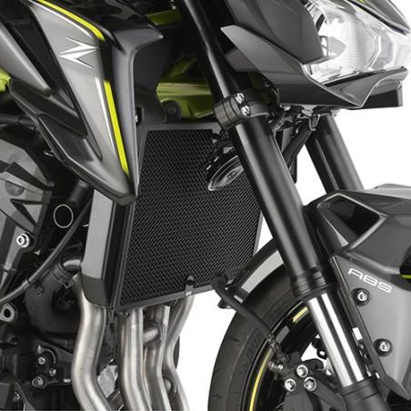 Grille de radiateur spécifique PR4118 GIVI en acier inox peinte en noire pour Kawasaki Z900 2017 et +