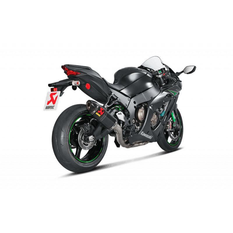 ligne compl te akrapovic evolution titane silencieux carbone pour kawasaki ninja zx10r 2016 2017. Black Bedroom Furniture Sets. Home Design Ideas