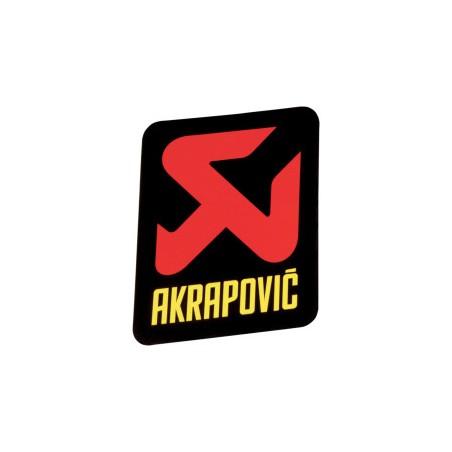 Autocollant sticker Logo Akrapovic vertical 75 mm