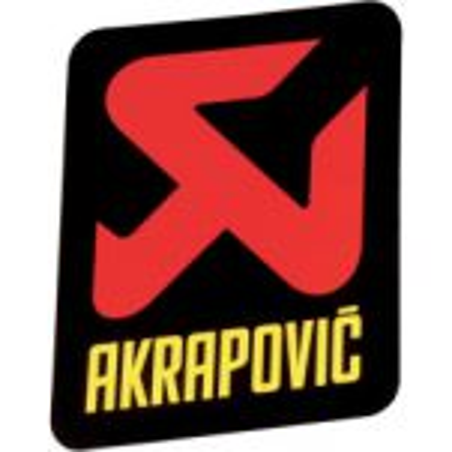 Autocollant sticker Logo Akrapovic vertical 95 mm