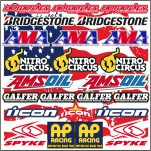 Planche A4 d'autocollants stickers Bridgestone AMA ICON