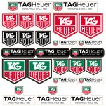 Planche A4 d'autocollants stickers Tag Heuer