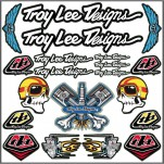Planche A4 d'autocollants stickers Troy Lee Designs