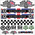 Planche A4 d'autocollants stickers Ace Cafe london