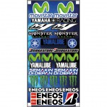 Planche A3 d'autocollants stickers Movistar Yamaha