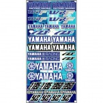 Planche A3 d'autocollants stickers Yamaha Racing