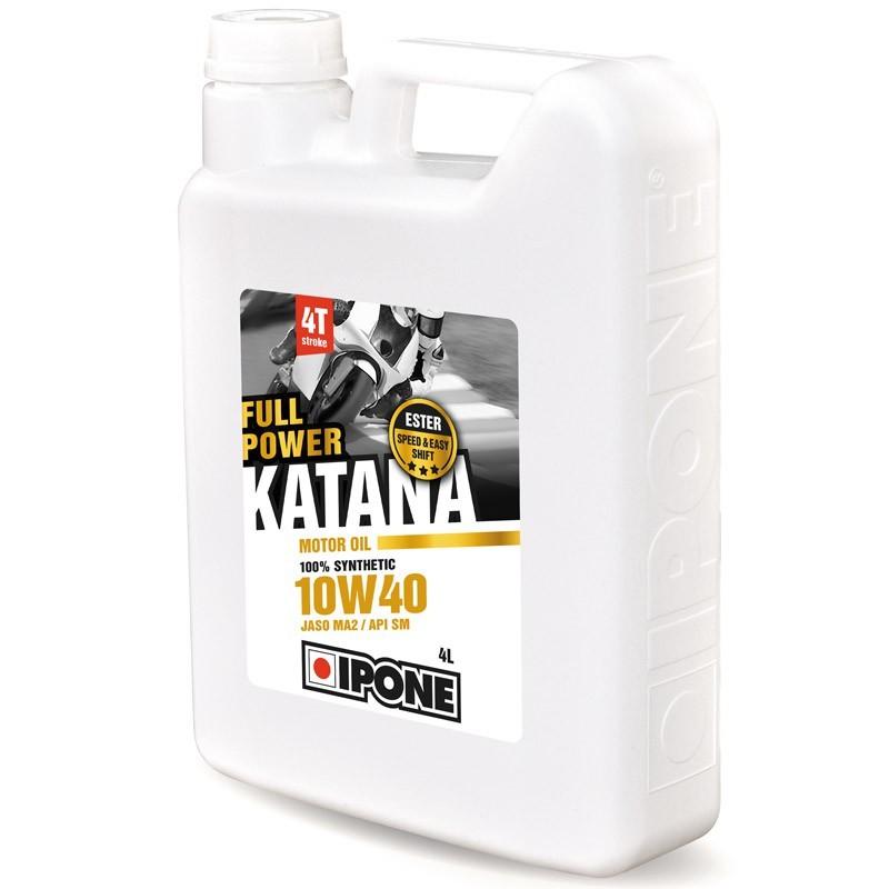 Ipone - Huile 4T 10W40 FULL POWER KATANA 4L - 100% Synthèse