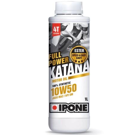 Ipone - Huile 4T 10W50 FULL POWER KATANA 1L - 100% Synthèse